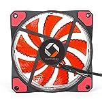 CHIPTRONEX FX100R 120mm Cabinet Red LED Fan Case Fan 4 Pin & 3 Pin Connector