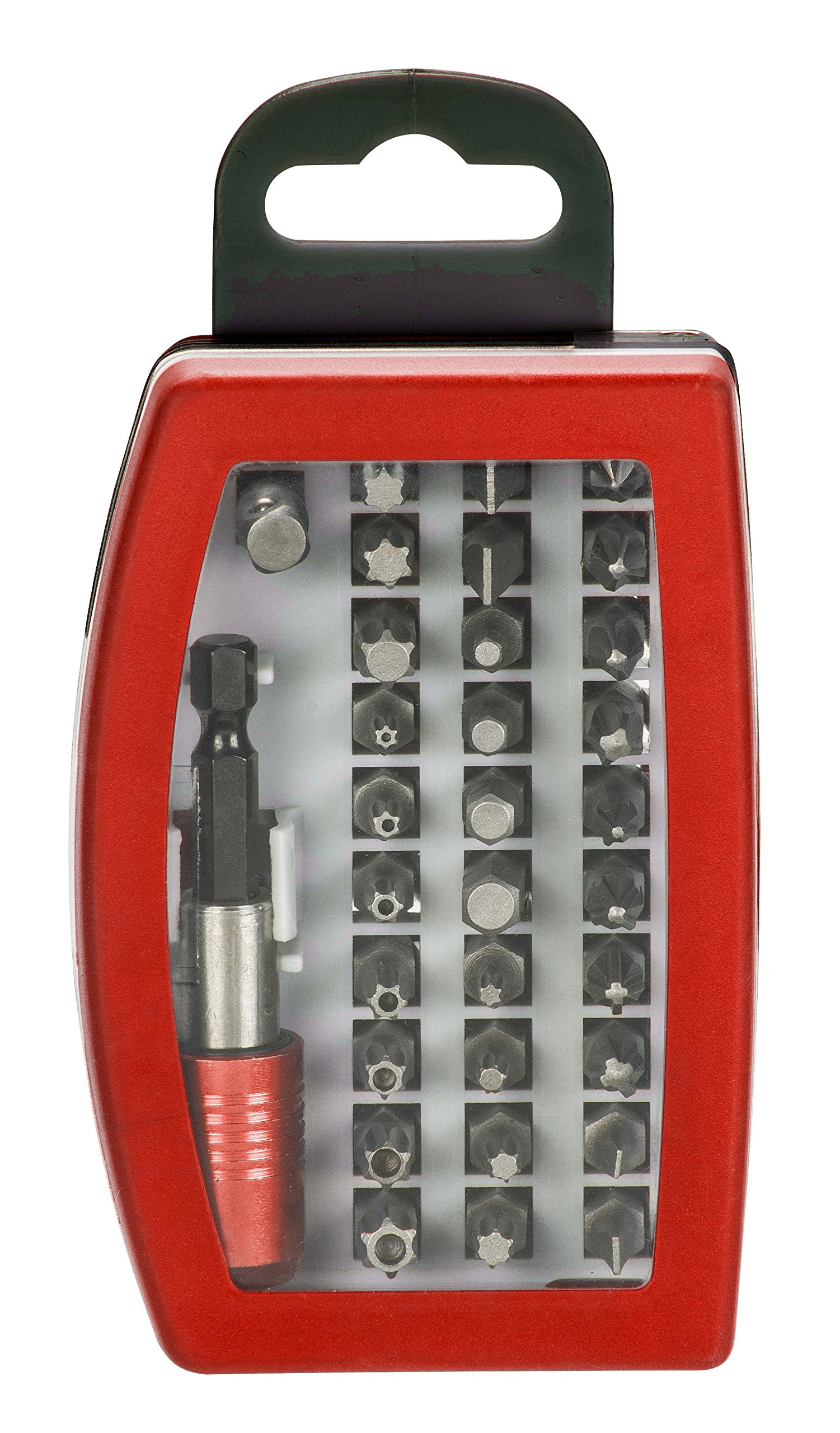 91HnP6pX3AL - KWB GERMANY GMBH 118490 - Bit box con puntas de 32 piezas, acero al cromo-vanadio