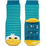 Weri Spezials Calcetines con topes para bebés y niños con suela de ABS de algodón, diseño de patos para niños y niñas, en var