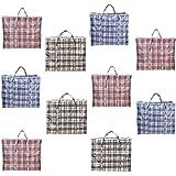 AAYAW – Lot de 1, 3, 5, 10 sacs à linge solide XL en tissu avec fermeture éclair pour le stockage, le déménagement…