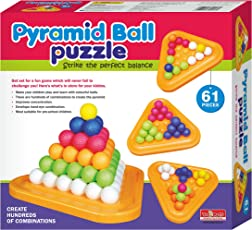 Toymate Playmate Pyramid Ball Multicoloured and Balancing Fun Game for Kids