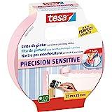 Tesa TE56260-00001-02 Cinta de pintor PRECISION Sensitive 25 mx25 mm roze, standaard