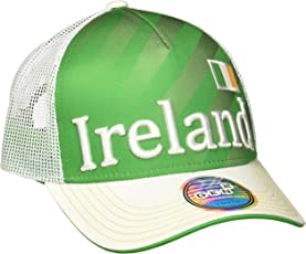 World Cup Soccer Ireland Boys Jersey Hook Flag Snapback Cap, Green, One Size