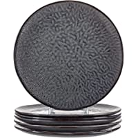 Leonardo 018565 Matera Lot de 6 assiettes en céramique lavables au lave-vaisselle 6 assiettes rondes en grès Ø 27 cm…