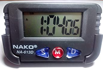 Nako NA-613D Quartz Clock for Car (Black)