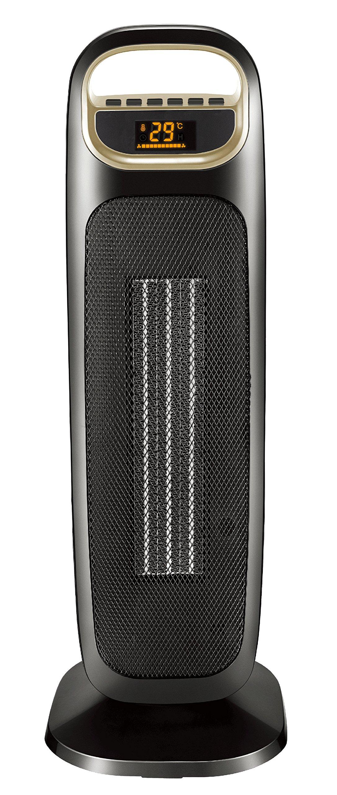 COMFEE Termoventilatore a Torre Potenza Massima 2000 Watt Colore Nero