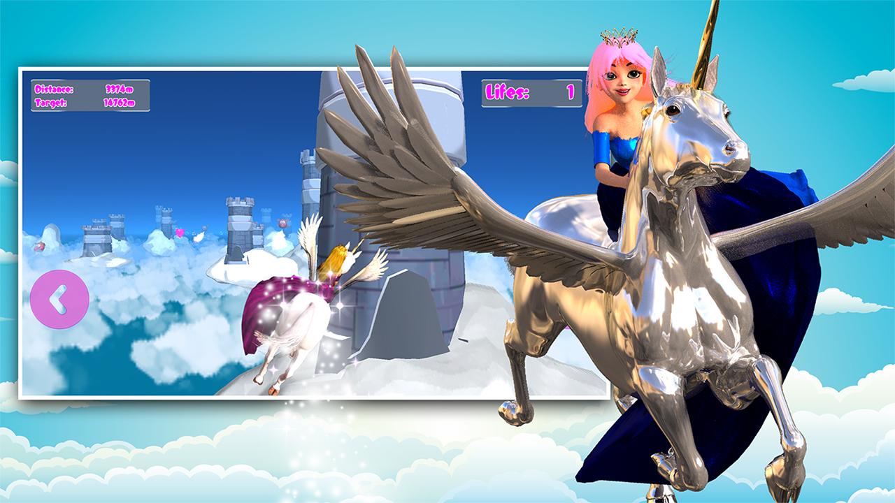 Zoom IMG-2 princess unicorn sky world run