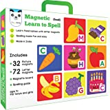 Play Panda Magnetic Learn to Spell : Food with 32 Picture Magnets, 72 Letter Magnets, Magnetic Board and Spelling Guide.
