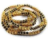 AFJ GOLD 1 Gram Micro Gold Plated Traditional Designer Fashion Jewellery Daily Mangalsutra Nallapusalu Chain for Women & Girls (GGE/KM-303)