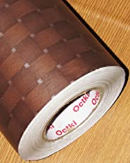 Cvanu Self Adhesive Wood Vinyl Wallpaper Waterproof Old Furniture Vinyl Stickers Wooden Door Wardrobe Desktop Pvc Wall Papers Cv18 24''X36''Inch