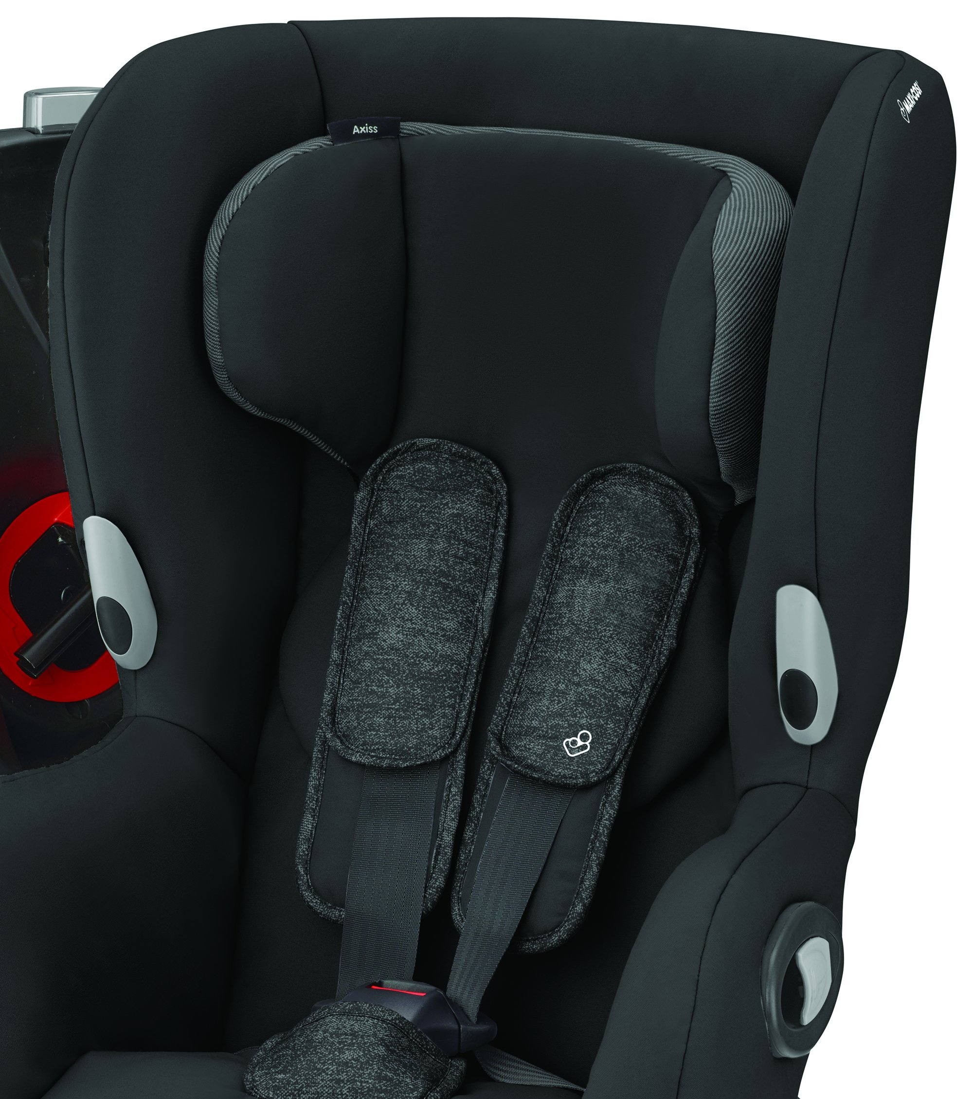Maxi-Cosi Axiss Toddler Car Seat Group 1, Swivel Car Seat, 9 Months-4 Years, Nomad Black, 9-18 kg Maxi-Cosi Car seat swivels 90° degrees allows for front-on access to get your toddler in and out of the car more easily 8 comfortable recline positions. Machine washable cover at 30° Install using the car's seat belt and the integrated belt tensioner ensures a solid fit 6