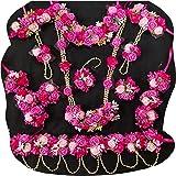 USHA BENTEX Women's Artificial Plastic Mogra Flower Jewellery/Handmade Necklace Jewellery , Pink