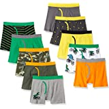 Spotted Zebra Cotton Boxer Briefs Underwear Niños, Pack de 10