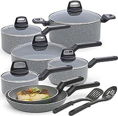 Black Decker Cookware Granite 14-Piece Set (Multi-Size)