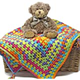 Easy Peasy Baby Blanket Crochet Kit – all-inclusive gift, ideal first project for confident beginner crocheters