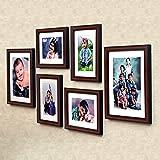 Ajanta Royal Classic Set Of 6 Individual Photo Frames (4-6X8 And 2-8X10 Inch)- Brown : A-89B