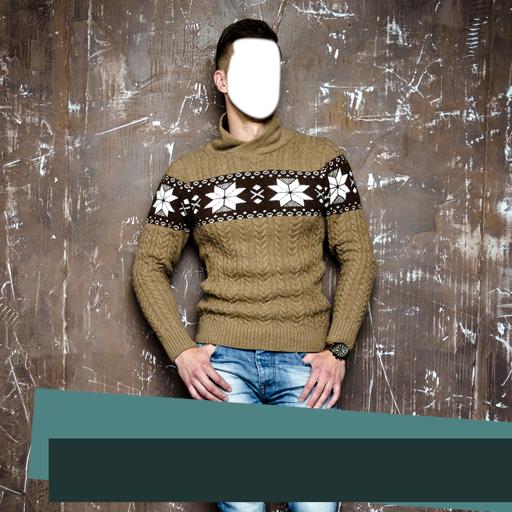 Casual Mann Anzug Foto Montage
