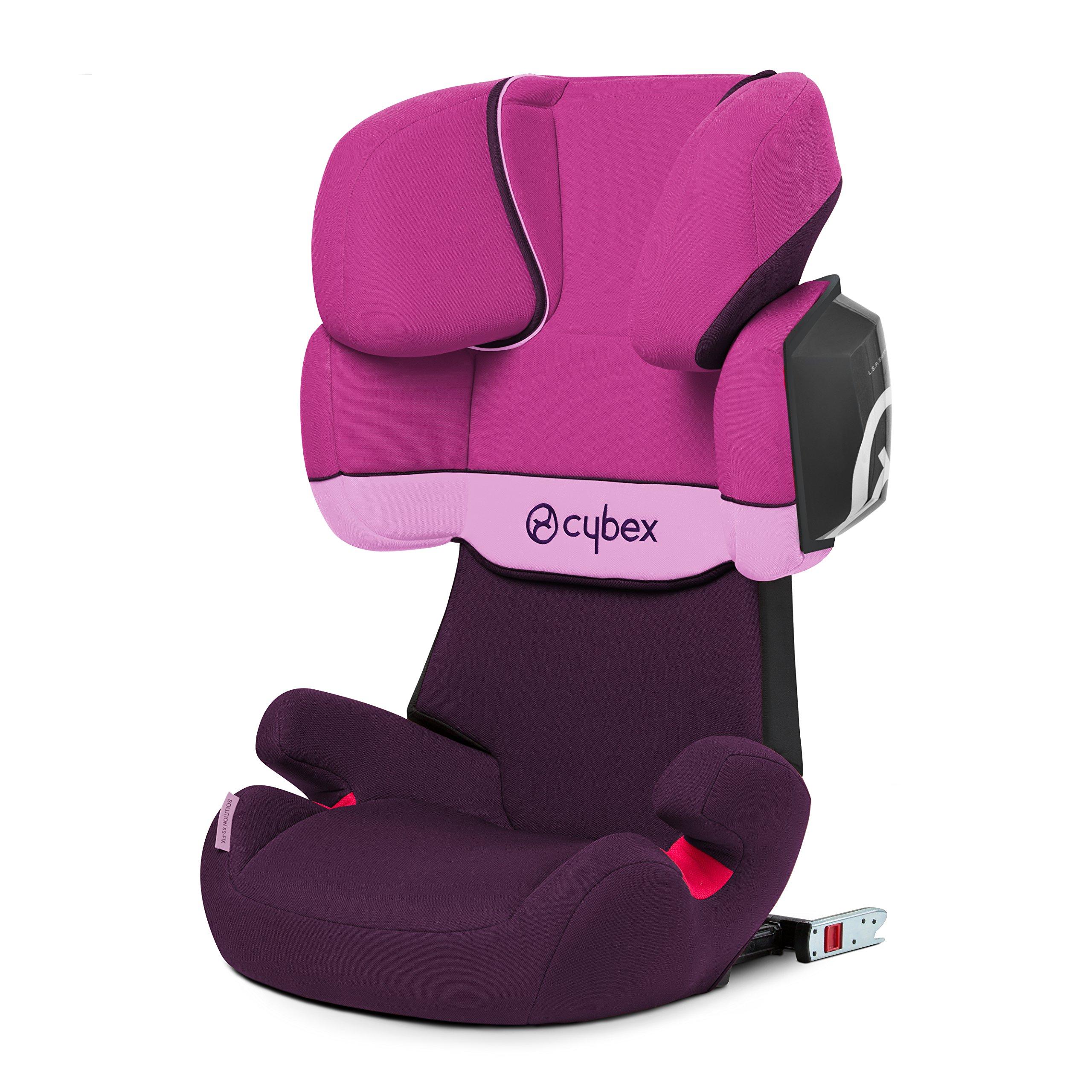 Cybex Solution X2-Fix - Silla de coche, grupo 2/3 (15-36 kg), color Purple rain