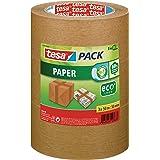 tesapack Papier ecoLogo Verpakkingstape - Plakband voor gebruik met of zonder handafroller - Milieuvriendelijke tape - Set va