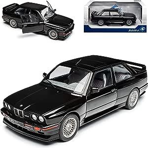 B M W 3er E30 M3 Coupe Sport Evolution Schwarz 1982 1994 1 18 Solido Modell Auto Mit Individiuellem Wunschkennzeichen Spielzeug