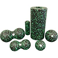 Balance Roll - Set 8 + 12 (Mini Rolle/Ball 8 / Ball 12 / Duoball 8 / Doppelball 12) Faszietraining Set (12 cm + 8 cm)