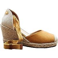 Angkorly - Chaussure Mode Sandale Espadrille Bohème Folk/Ethnique Romantique Femme Corde avec de la Paille Laçage Talon…