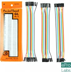 ePro Labs KIT-0010 Breadboard + 60 Pieces Jumper Wires Set