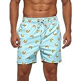 Arcweg Beach Shorts Mens Mesh Lining with Pockets Quick Dry Swim Shorts Trunks Water Repellent Elastic Drawstring Loose Surfi