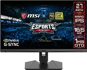 Msi Optix Mag274qrfde Qd 69 Cm Gaming Monitor Schwarz Computer Zubehör