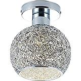 DAXGD Lampe en aluminium de plafond Mini plafonnier pour le vestiaire, le couloir et le salon (Diamètre du plafonnier: 18cm)