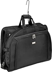 AmazonBasics Premium Tri-Fold Garment Bag, Black - 52
