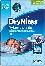 Huggies DryNites hochabsorbierende Pyjama-/ Unterhosen, Bettnässen Jungen Jumbo Monatspackung, 64 Stück (4-7 Jahre)