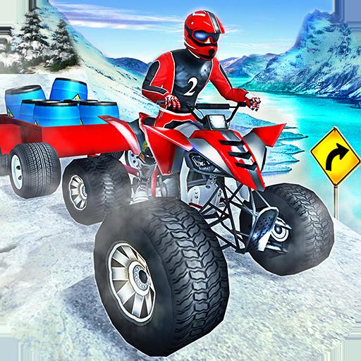 Offroad Quad Bike Cargo Delivery: ATV Rider Sim -