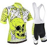 BXIO Maillot Ciclismo Hombre, Ropa Ciclismo y Culotte Ciclismo con Culotte Pantalones Acolchado 3D para Deportes al Aire Libr