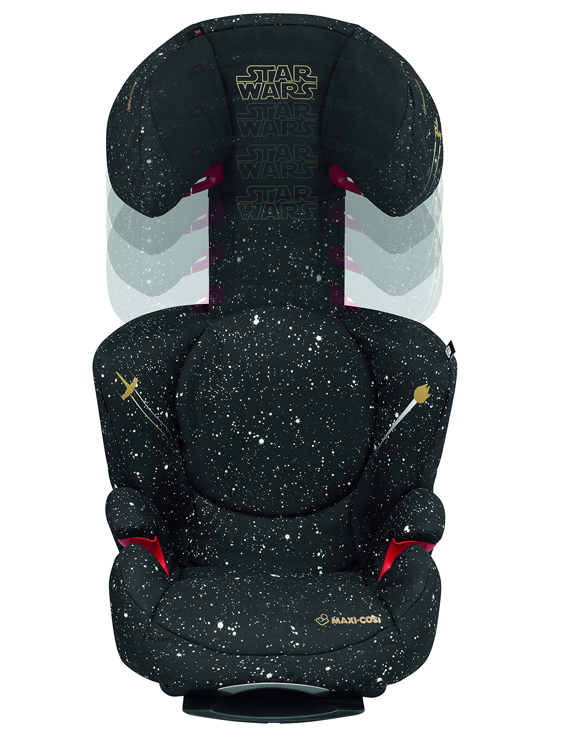 Maxi-Cosi Rodi AirProtect Child Car Seat, Lightweight Highback Booster, 3.5-12 Years, 15-36 kg, Star Wars Maxi-Cosi Child car seat, suitable from 3.5 to 12 years (15-36 kg) Easily install this safe car seat with a three point seat belt and attach the anchorage point in the head rest through your cars head rest Patented AirProtect technology in headrest reduces the risk of head and neck injuries up to 20 percent 11