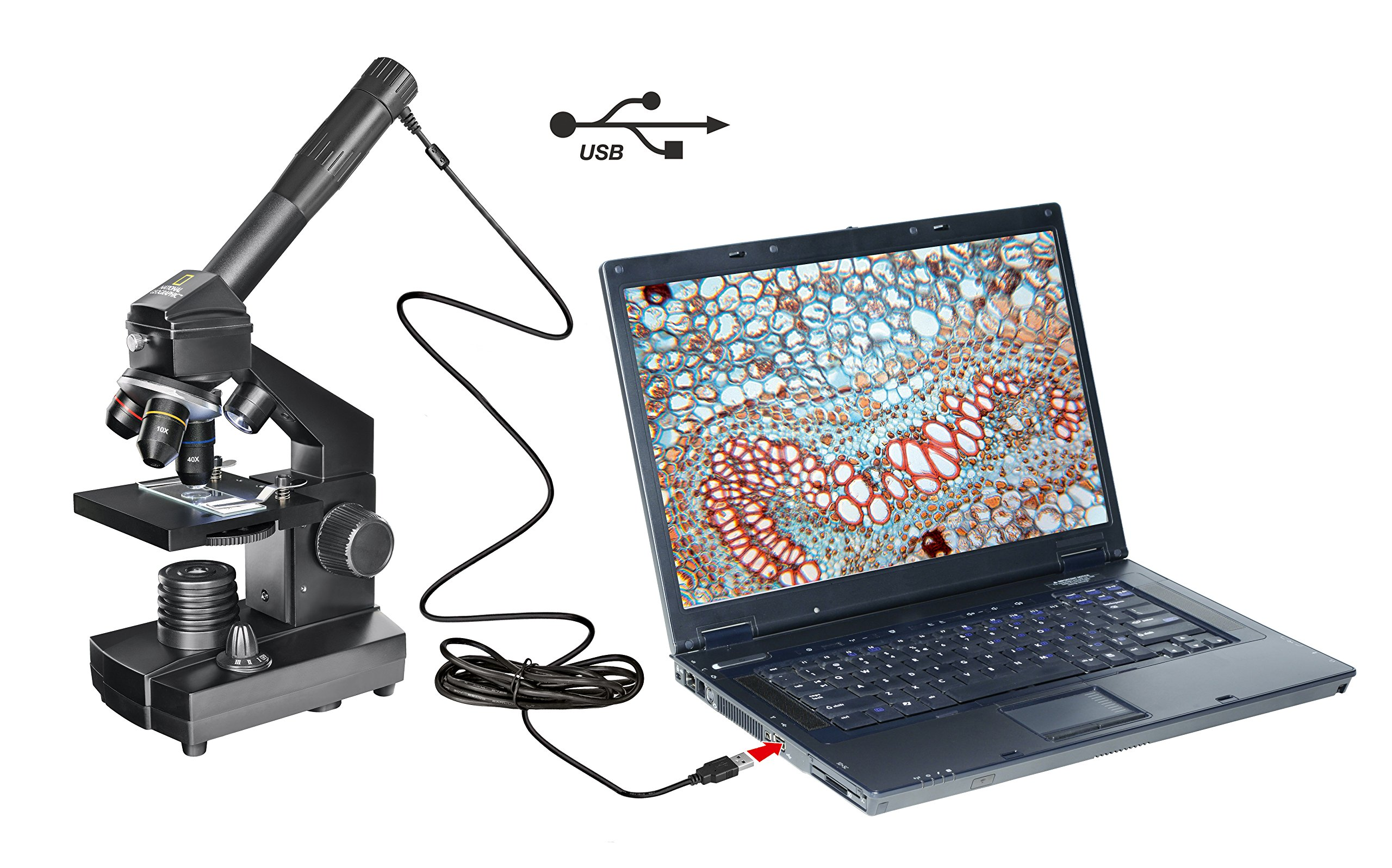 National Geographic Microscope 40x-1024x USB with case