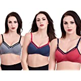 CEE 18 Women's Cotton Padded Non-Wired Maternity Bra (pack of 3)