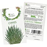 Chive Seeds (Allium schoenoprasum), Perennial Herb Plants for planting Indoor and Garden, Grow your own Chive Plant: Herb Seeds for about 400 Chive Plants by OwnGrown