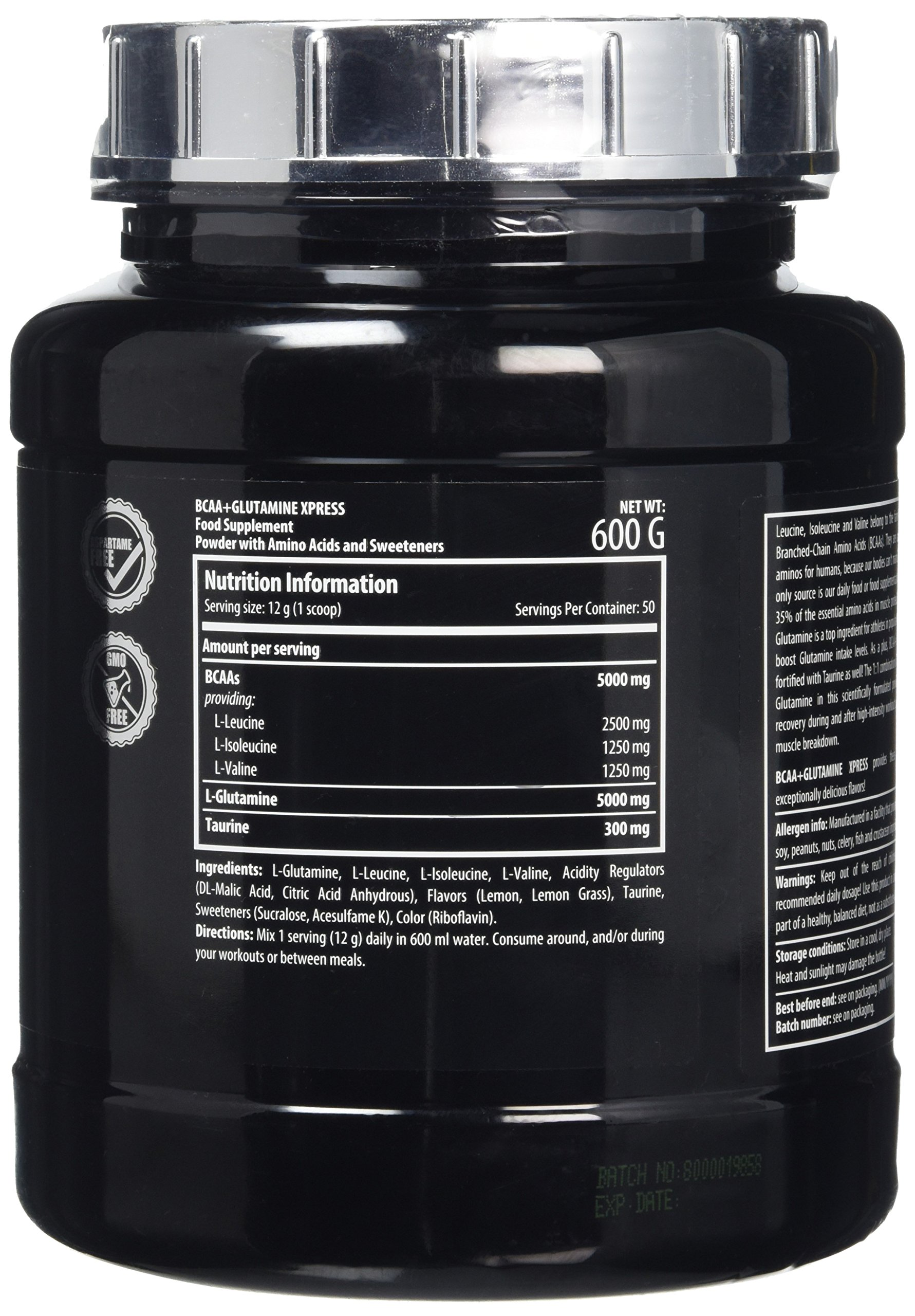 91IR7yCGAtL - Scitec Nutrition BCAA + Glutamine Xpress, Fortified with Taurine, Sugar Free, 600 g, Lime