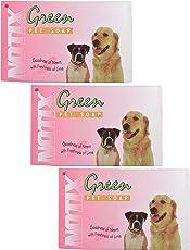 DOG LOVERS Notix Goodness Freshness Neem Pet Soap, 75g (Green, DLAR00127) - Pack of 3