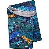 Wollhuhn 20203045 - Sciarpa leggera per bambini, motivo mimetico, colore: blu (ecologico, biologico), interno in tinta unita,