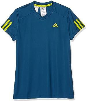adidas Mädchen Club T Shirt, Tech SteelShock Slime, 152