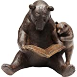 Kare Design Reading Bears Decorazione, Marrone, 18x20x15.5cm