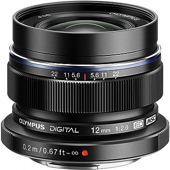 Olympus M.ZUIKO Digital ED Objektiv (Brennweite: 12 mm, Lichtstärke: 1:2.0) schwarz