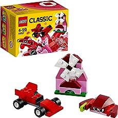 LEGO Classic Red Creativity Building Blocks for Kids (55 pcs) 10707