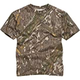 100% Cotton Military Style T-Shirt - Mossy Oak/Tree Bark Camouflage