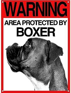 BOXER mod 4 Attenti al cane Targa piastrella cartello ceramic tiles