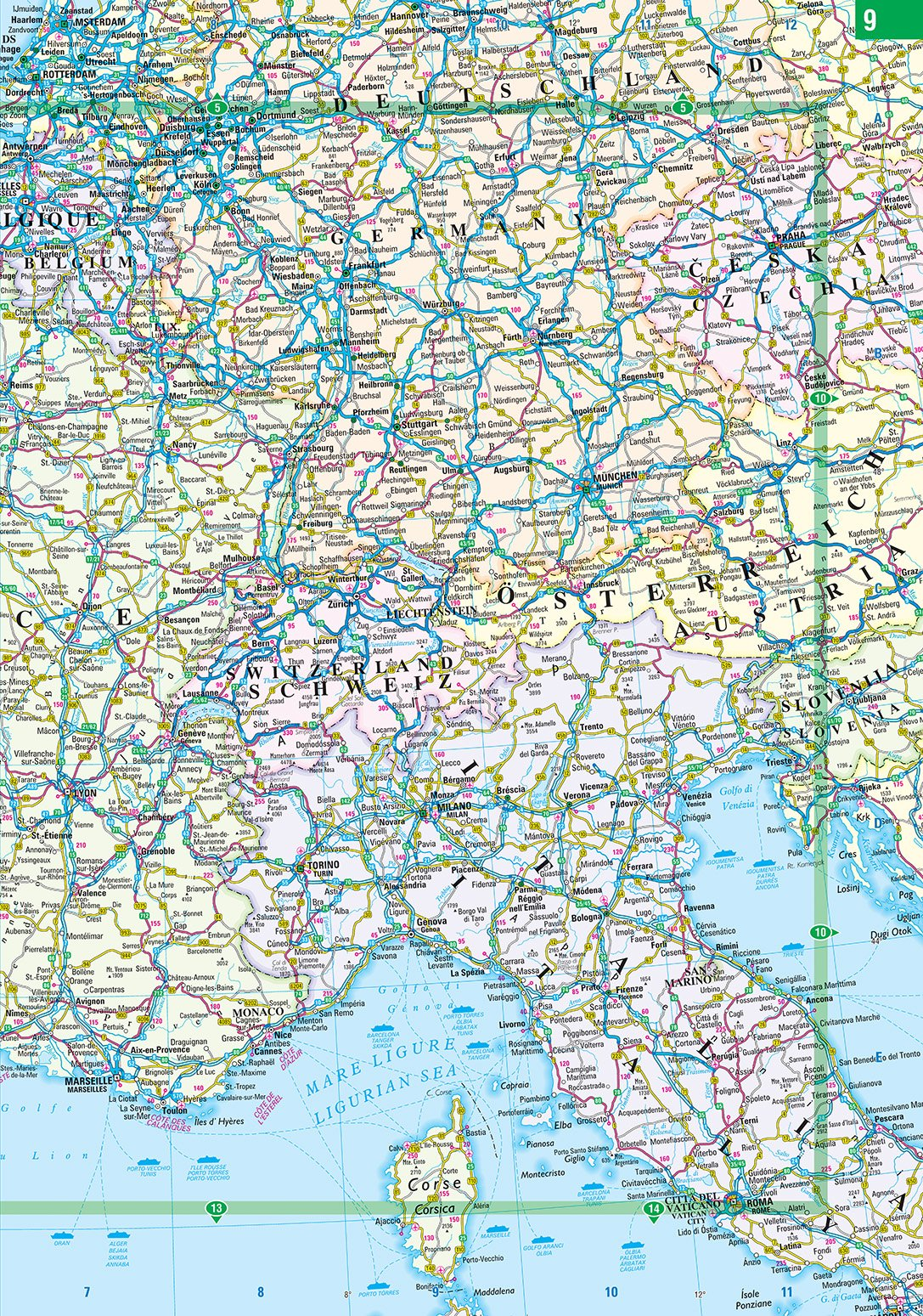 2020 Philip's Big Road Atlas Europe: (A3 Spiral binding) (Philip's Road Atlases) 5