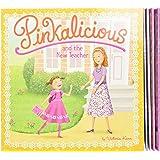 The Pinkalicious Take-Along Storybook Set: Tickled Pink, Pinkalicious and the Pink Drink, Flower Girl, Crazy Hair Day, Pinkal