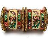 Rajasthan Bangles Metal Zircon Gemstone Bangles set for Women's